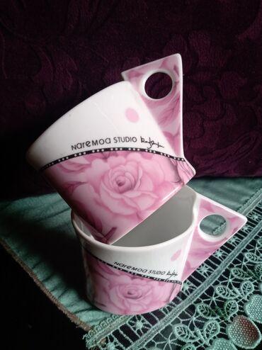Solje nove za kafu porcelanske za dvoje. Obe u ceni. dimenzije zbog