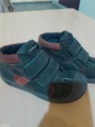 Bez cipele - Srbija: Cicibanove kozne cipele za decaka broj 27 bez ostecenja
