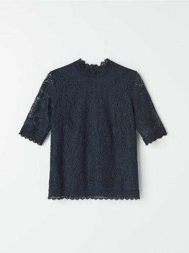 Ženska odeća - Beograd: Mohito cipkana bluza, vel XS. Odgovara i velicini S, jer je siri model