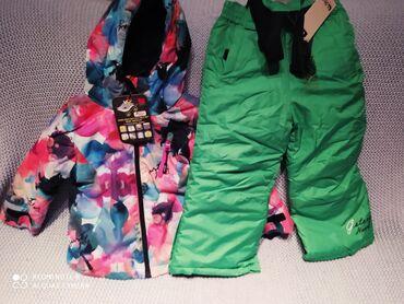 Pantalone vekivina - Srbija: Zimska jakna i pantalone 92-98 za male skijaše.Jakna od nepromočivog