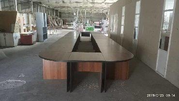 Конференц столы на заказ. Эконом вариант из лдсп, премиум вариант из