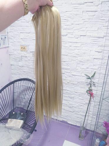 Nadogradnja, 60cm. 6 Redova klipsi. Kvalitetna kosa. Blago satirana