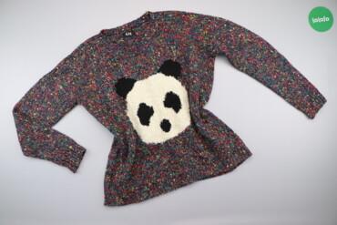 Жіночий светр з принтом панди та різнокольоровими вкрапленнями George