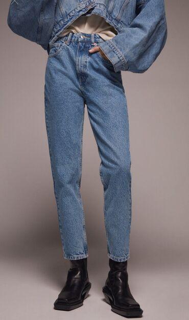 Мом джинсы Zara, посадка отличная, качество шикарное, 38 размер