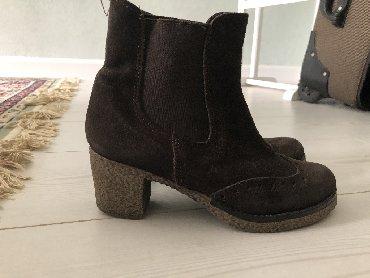 ботильоны-коричневые в Кыргызстан: Женские ботинки, 36 размер Италия