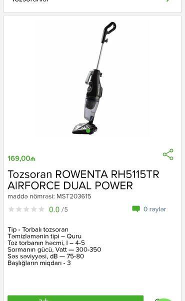 Tozsoran Rowenta Tam zəmanətləNəğd və 1 kartla ödənişEvdən birbaşa