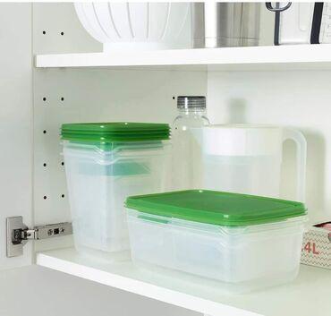 Ostala oprema za kuhinju | Srbija: Set od 17 kutija za hranuSadrži: 4 posude (9x9x4 cm, 150 ml), 3 posude