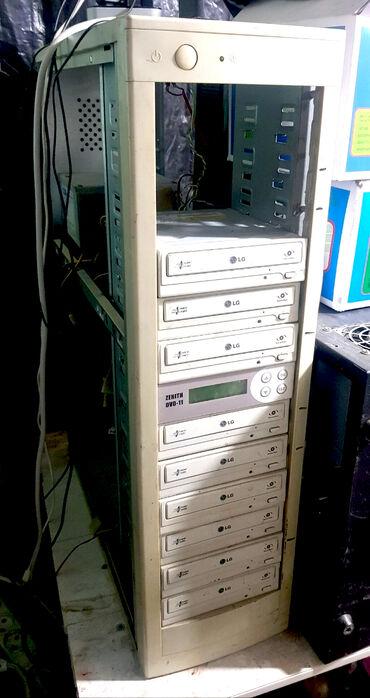 дубликатор dvd дисков в Кыргызстан: Дубликатор DVD CD дисков ATA, 2шт один вроде на 13 дисков, один на 9