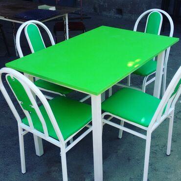 стол деревянный кухонный в Азербайджан: ● Stol ve stularin bir başa sexden satişi.●Çatdirilma pulsuz.● Reng