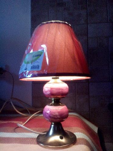 Rasveta | Nis: Lampa- PINK- je visoka 32 cm. Postolje i stub su kombinacija metala