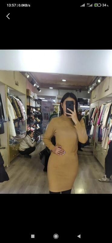 платье футляр теплое в Кыргызстан: Тёплое платье на повседневку и на любой случай)Очень удобный.Длина по
