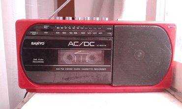 800 сом. японский SANYO радио фм. кассета в Ала-Бука