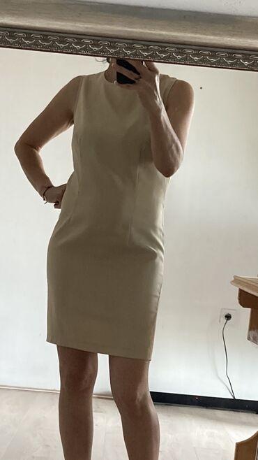 Svaku priliku haljina - Srbija: Haljina vel S,za svaku priliku,boje sampanj,viskoza