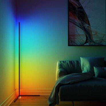 Дизайнерская угловая лампа для освещения интерьера. RGB - лампы в