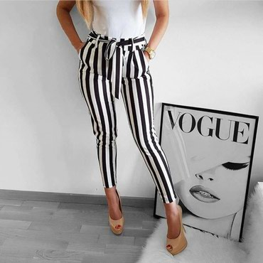 Crno/bele pantalone NOVO! - Pirot
