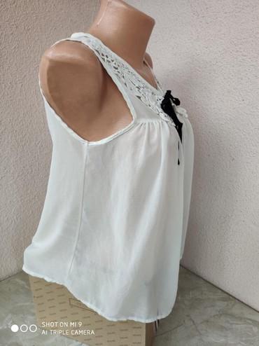 Sako-sa-ruskom-kragnom-punijeg-materijala-ici - Srbija: Romanticna bluza sa cipkastom kragnomramena 33cmgrudi 46cmduzina 66cm