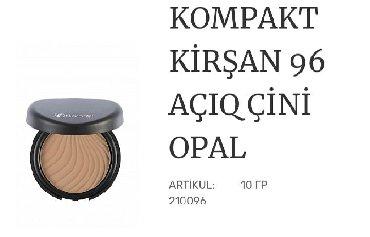 Kosmetika - Xırdalan: Quru pudra-yagli pariltini aradan qaldirir,qirislari gozegorunmez