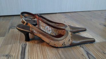 Sandale br 39 jednom nosene, niska peta, izuzetno udobne, kao nove bez - Sremska Kamenica