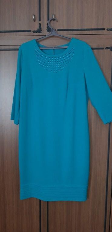 нарядное платье в пол в Кыргызстан: Платье. Новое (без этикетки), нарядное. Цвет бирюза (на фото получился