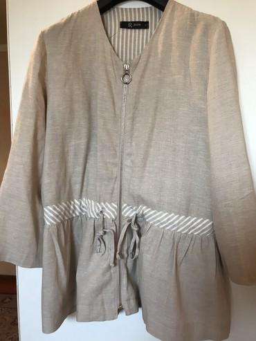 рубашка-лен в Кыргызстан: Накидка-пиджак, произ. Италия, лен, а отличном состоянии