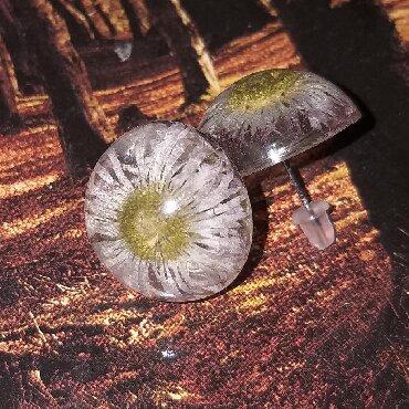 эпоксидная смола цена в баку в Азербайджан: Серьги-гвоздики из эпоксидной смолы,ручная работа,внутри настоящие