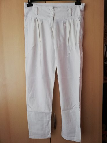Bele lanene pantalone Ocuvane - Lajkovac