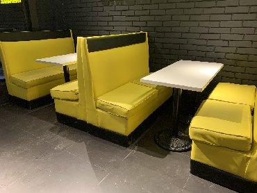 Диваны в Кыргызстан: Срочно продаю,мебель для офиса и Кафе  4 дивана 2 стола Барная(кассова