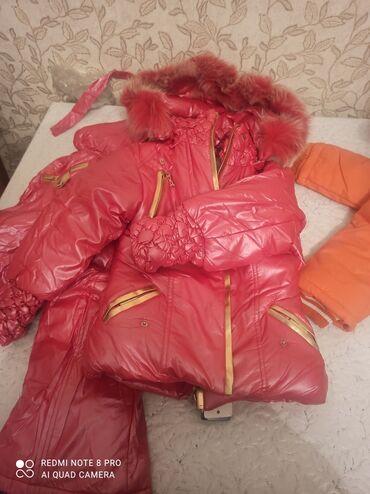 зимние куртки женские бишкек в Кыргызстан: Продаю детские зимние куртки с комбенизоном новые. Размер с 3 до 6