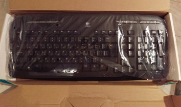 Logitech EX110 Black 102-Keys Wireless Keyboard GR με Wireless Optical