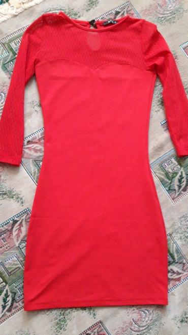 длинное красное платье с разрезом в Кыргызстан: Турецкое красное платье б/у всего 500с, декольте гипюр, длина до коле