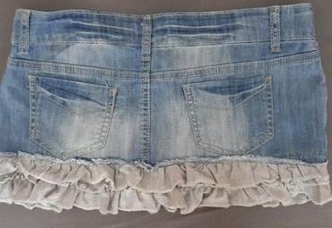 Prelepa teksas suknjica sa karnerima M/L kao nova - Jagodina