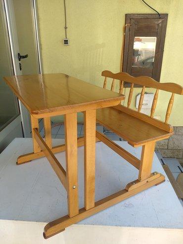 Kuća i bašta - Novi Becej: Skamija - komplet klupa i sto, za dvoje dece. Izrađen je od punog