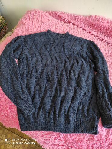 zhenskoe plate 52 razmer в Кыргызстан: Продаю мужской свитер 50/52 размер Ручная вязка, ч/шерсть 5000