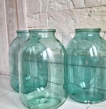 стеклянные банки бишкек in Кыргызстан | ДРУГАЯ ПОСУДА: Продаю стеклянные банки ( качество Советское), 3 литровые 28 сом, 1