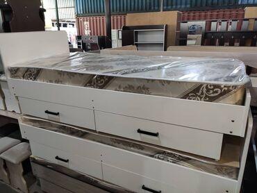 Новый односпальные кровати с матрасом и ящиками Российский ламинатВ