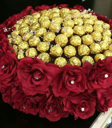 sokolad pastasi - Azərbaycan: Sokolad ve gul sebetiEn gozel hediyyeeynen bu buket 55aznnisbeten