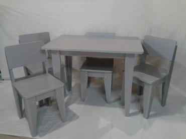 Sumqayıt şəhərində Uşaqlar üçün stol stul. Hər rəngdə sifariş qəbul olunur.