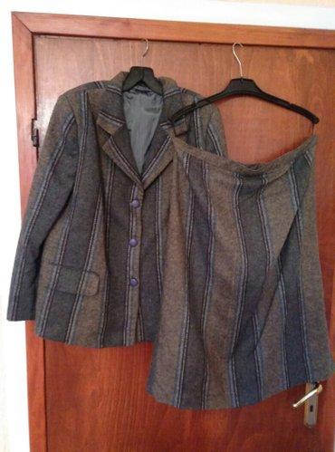 Avo krzno obim - Srbija: Komplet sako i suknja od vune. Velicina xl. Obim grudi 114