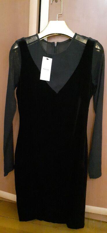 Продаю новое,черное платье,бархатное,от MANGO. Размер S. Самовывоз,без