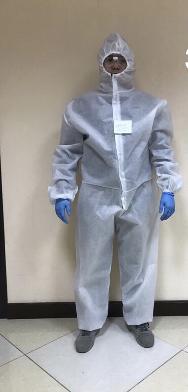 Медицинская одежда - Кыргызстан: ️️️Одноразовый Защитный Костюм ️️️  Одноразовый защитный костюм Изг