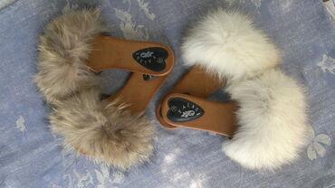 Krzno - Srbija: Nove krznene papuče,pravo krznoPapuče sa pravim krznom,rakun i