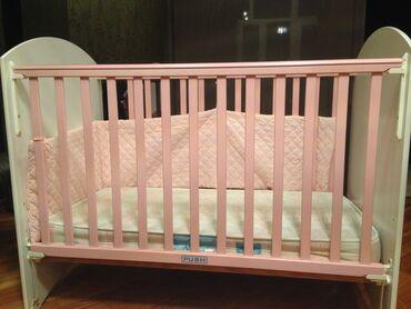 Кровать ZP Baby в комплекте с матрасом в идеальном состоянии,бортики