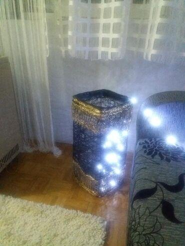 Kućni dekor - Mladenovac: RASPRODAJA!!!! Ručno izrađena dekorativna lampa sa led sijalicama