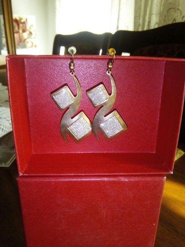 Viseće minđuše boje zlata, nove, kupljene u Italiji - Leskovac