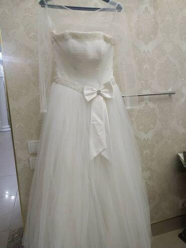 Свадебное платье, надето 1 раз, если нужно добавим верх