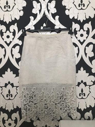 Elegantna suknja do kolena od čipke sa elastinom, rajfešlus sa - Stara Pazova