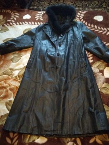 Плащи в Кыргызстан: Продам кожаный плащ б/у. в хорошем состоянии. размер 4xl