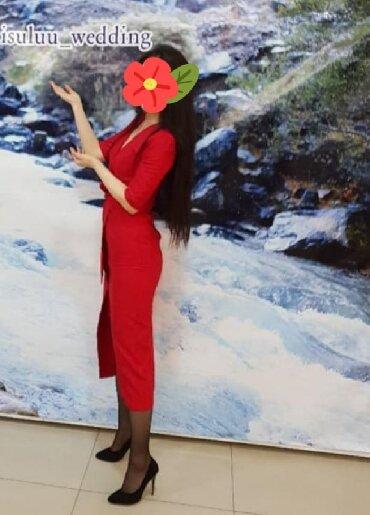 длинное платье на запах в Кыргызстан: Срочно продаю красивое платье на запах, французская длина
