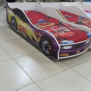 Кровать детская машина новаяДля девочки и для мальчикаШлагбаум