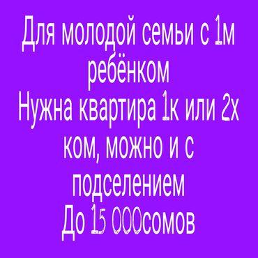 квартира на подселение in Кыргызстан   ПОСУТОЧНАЯ АРЕНДА КВАРТИР: 1 комната, 12345 кв. м, С мебелью